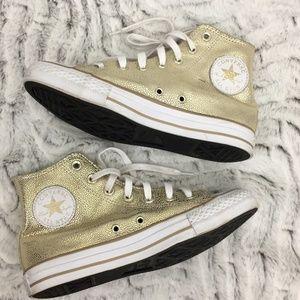 Converse Chuck Taylor High Top Gold Metallic 7